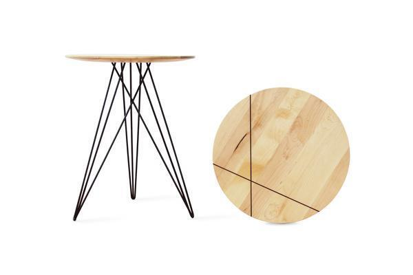 Hudson Side Table - Maple with Inlay