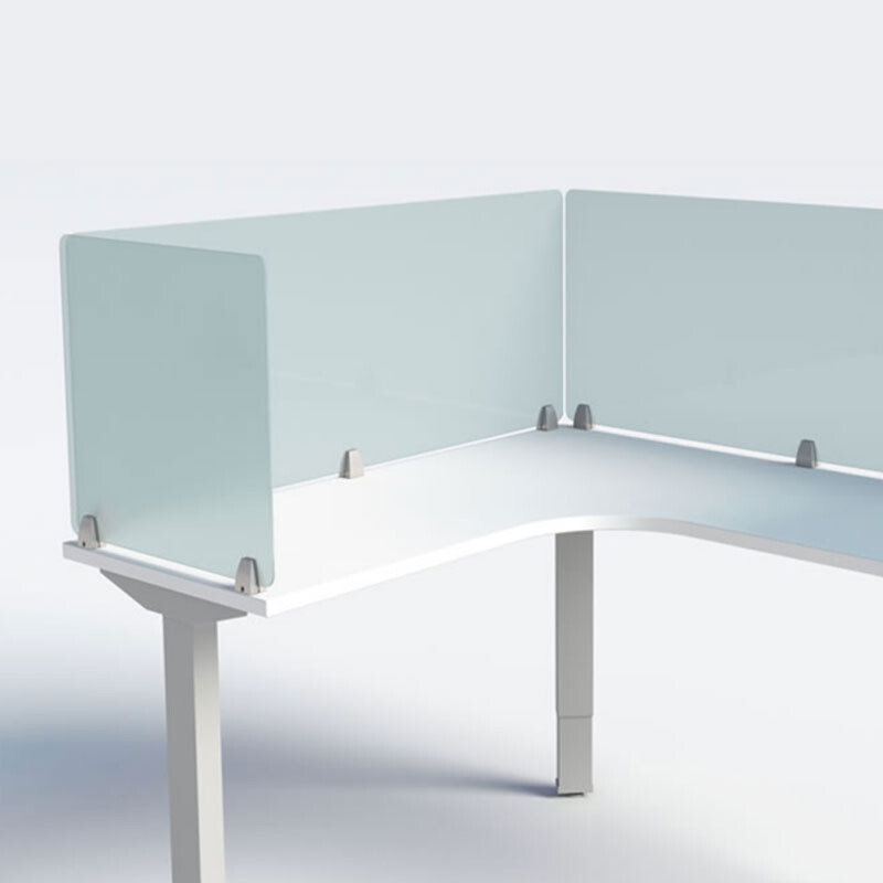Enclave Frameless Desk Dividers - Frosted Acrylic
