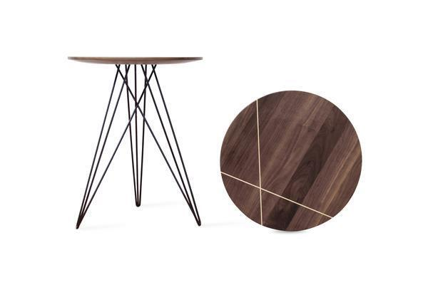 Hudson Side Table - Walnut with Inlay