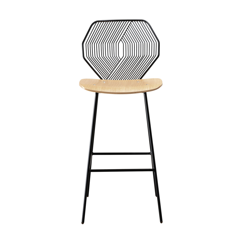 Wood & Wire Counter Stool
