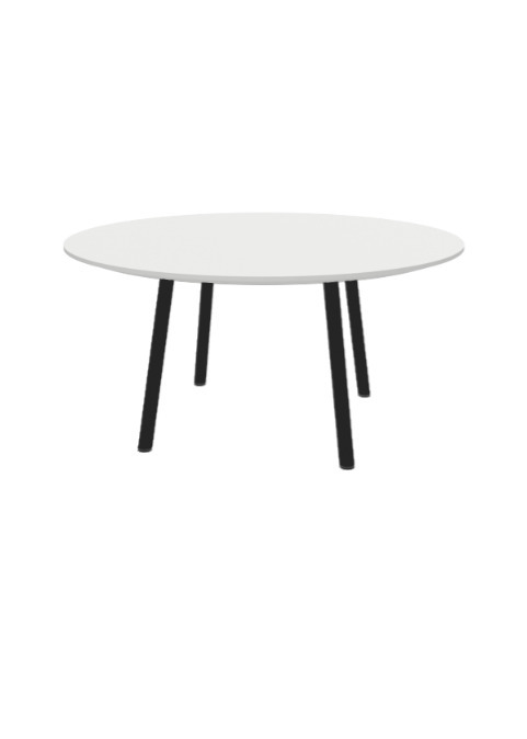 """Exchange Table with Round White Top - 36""""w"""