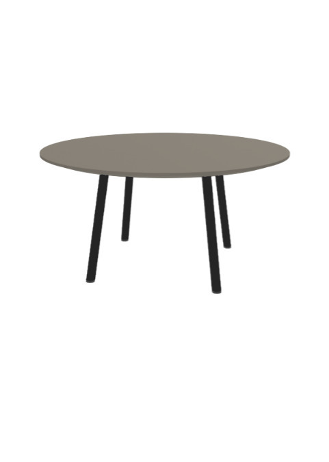 """Exchange Table with Round Taupe - 36""""w"""