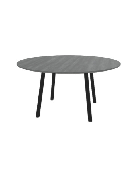 """Exchange Table with Round Slate Wood - 36""""w"""