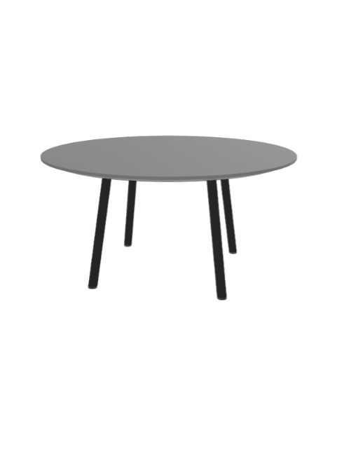 """Exchange Table with Round Clay - 36""""w"""