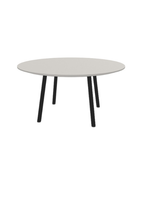 """Exchange Table with Round Natural - 36""""w"""