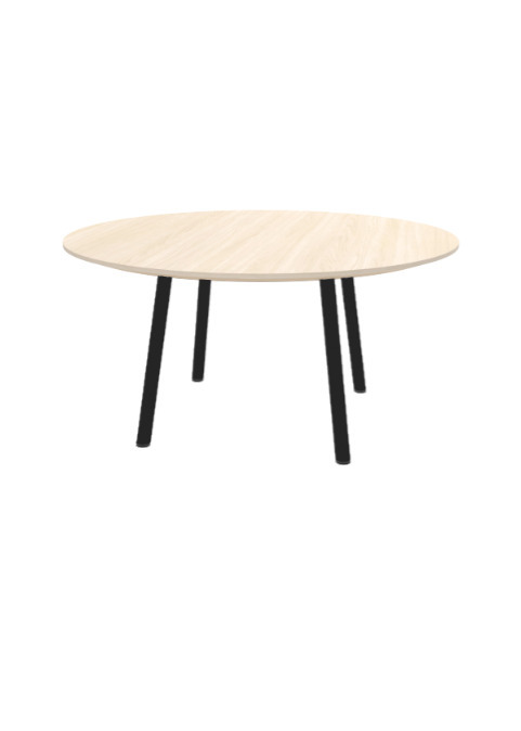 """Exchange Table with Round Washed Wood - 36""""w"""
